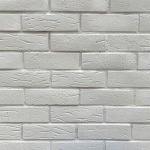 Rustic Tuğla Duvar – Beyaz