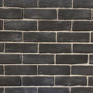 Rustic Tuğla Duvar – Siyah