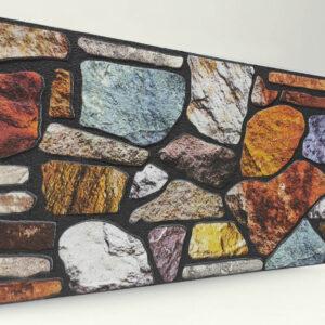 Cümbüş 120'lik Kayrak Taşı Desenli Strafor Duvar Paneli