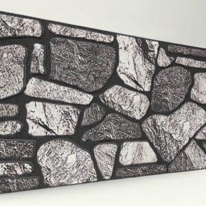 Koyu 120'lik Kayrak Taşı Desenli Strafor Duvar Paneli