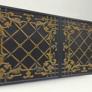 Sümbül Black Casablanca Karo Strafor Panel