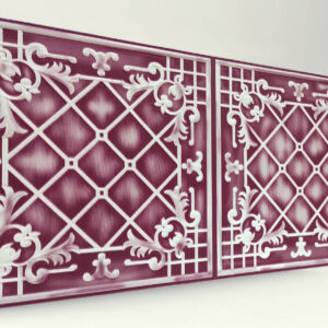 Sümbül Purple Casablanca Karo Strafor Panel
