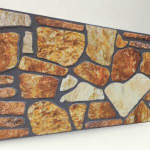 Sarı 120'lik Kayrak Taşı Desenli Strafor Duvar Paneli