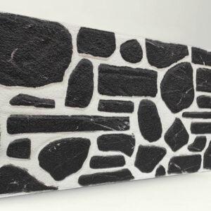 Siyah Doğal Taş Desenli Strafor Duvar Paneli
