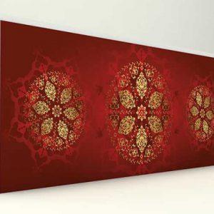 Çin Tarzı Çini Desenli Strafor Duvar Paneli