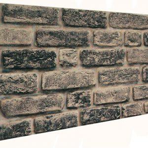 Eskitme Siyah Tuğla Desenli Strafor Duvar Paneli