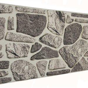 Gri 120'lik Kayrak Taşı Desenli Strafor Duvar Paneli