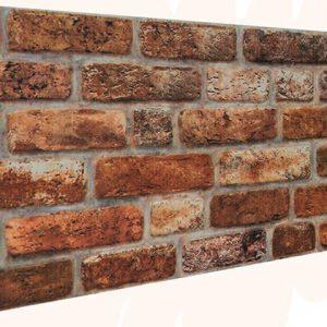 Kehribar Tuğla Desenli Strafor Duvar Paneli