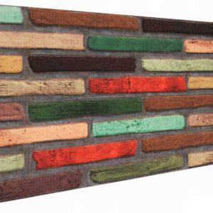 Koyu Renk İnce Tuğla Desenli Strafor Duvar Paneli