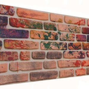 Renkli 120'lik Tuğla Desenli Strafor Duvar Paneli