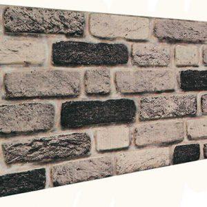 Siyah Tuğla Desenli Strafor Duvar Paneli