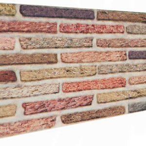 Soft Renkli Tuğla Desenli Strafor Duvar Paneli