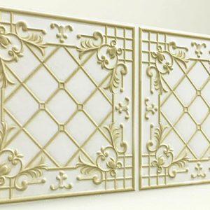 Sümbül White Casablanca Karo Strafor Panel