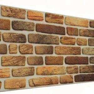Yaldız 120'lik Tuğla Desenli Strafor Duvar Paneli