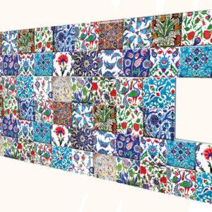 Çiçekli İnce Mermer Desenli Strafor Duvar Paneli