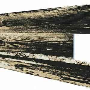 Eskitme Siyah İnce Ahşap Desenli Strafor Duvar Paneli