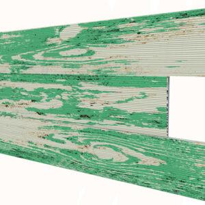 Eskitme Yeşil İnce Ahşap Desenli Strafor Duvar Paneli
