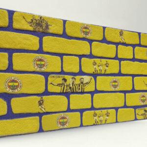 Fenerbahçe Tuğla Desenli Strafor Duvar Paneli