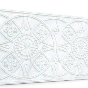 Güneş İnci Beyaz Oymalı Mermer Panel