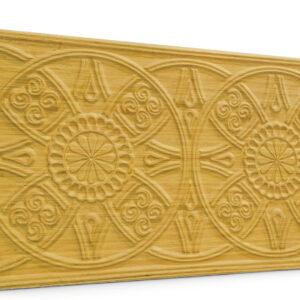 Güneş Somon Oymalı Ahşap Panel