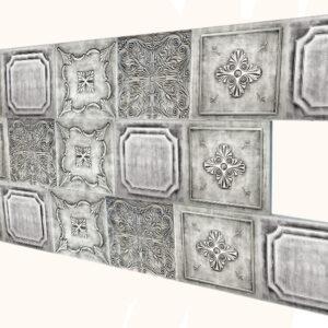 Metalik İnce Mermer Desenli Strafor Duvar Paneli