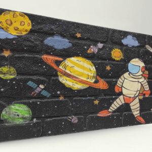 Uzay Tuğla Desenli Strafor Duvar Paneli