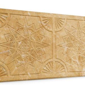 Yıldız Açık Hardal Oymalı Mermer Panel