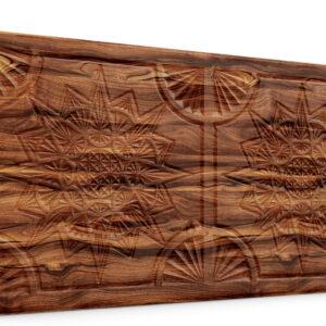 Yıldız Ağaç Kabuğu Oymalı Ahşap Panel