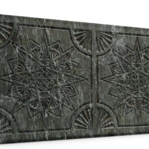 Yıldız Antrasit Oymalı Mermer Panel